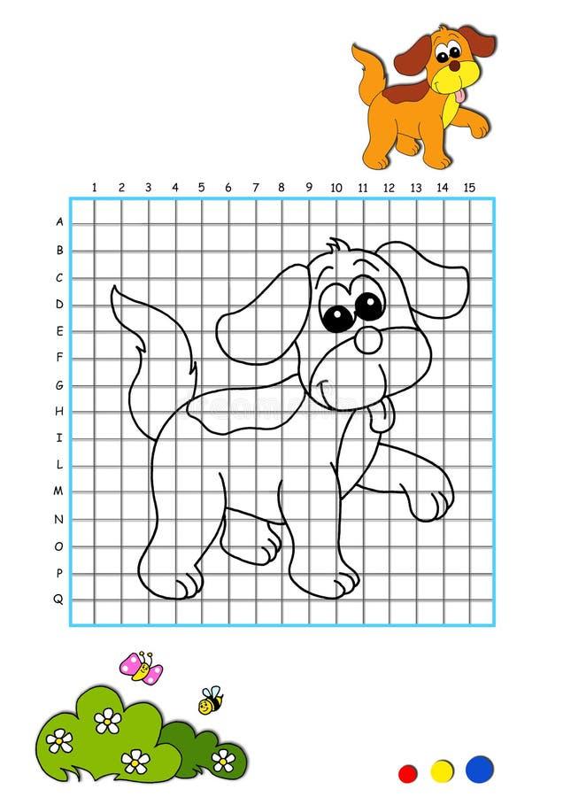 Libro di coloritura 3 - cane illustrazione vettoriale