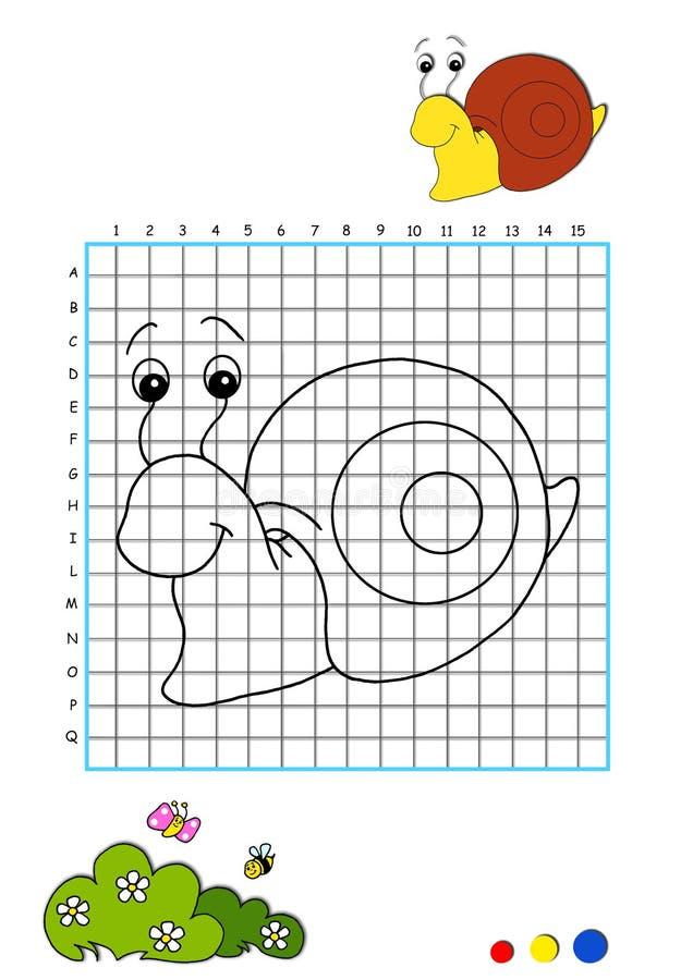 Libro di coloritura 6 - lumaca illustrazione vettoriale