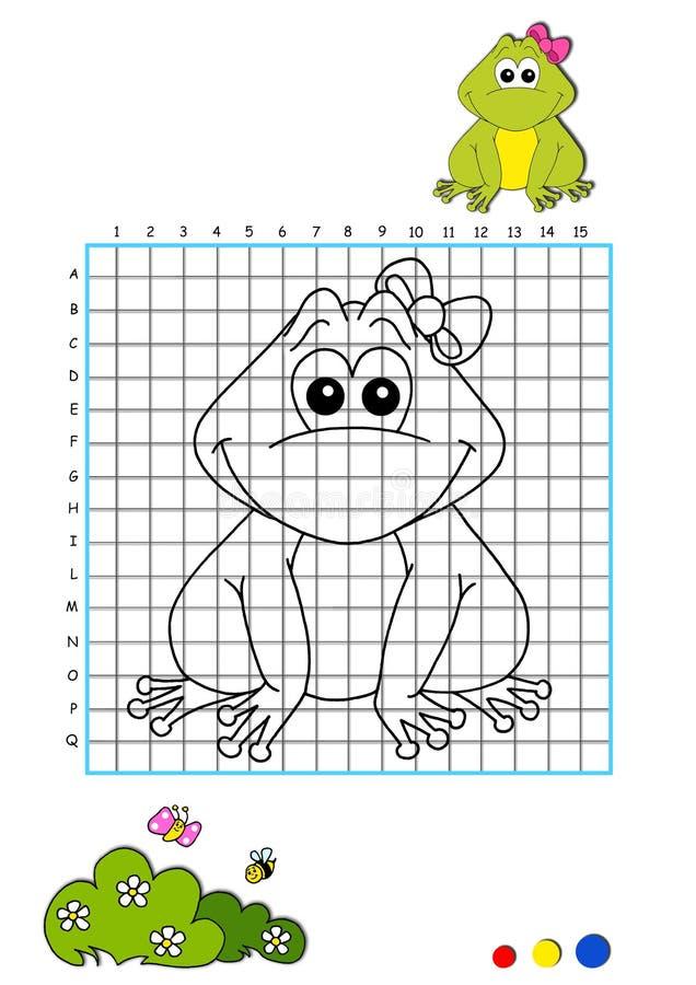 Libro di coloritura 9 - rana illustrazione vettoriale
