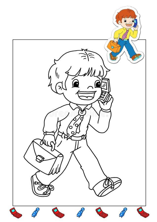 Libro di coloritura degli impianti 18 - gestore illustrazione di stock