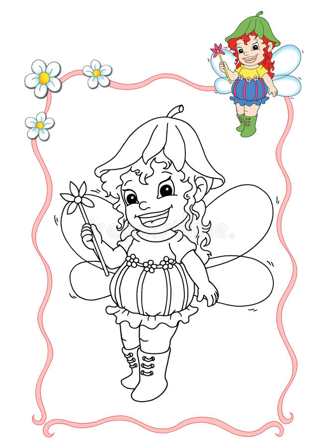 Libro di coloritura - fairy 7 royalty illustrazione gratis