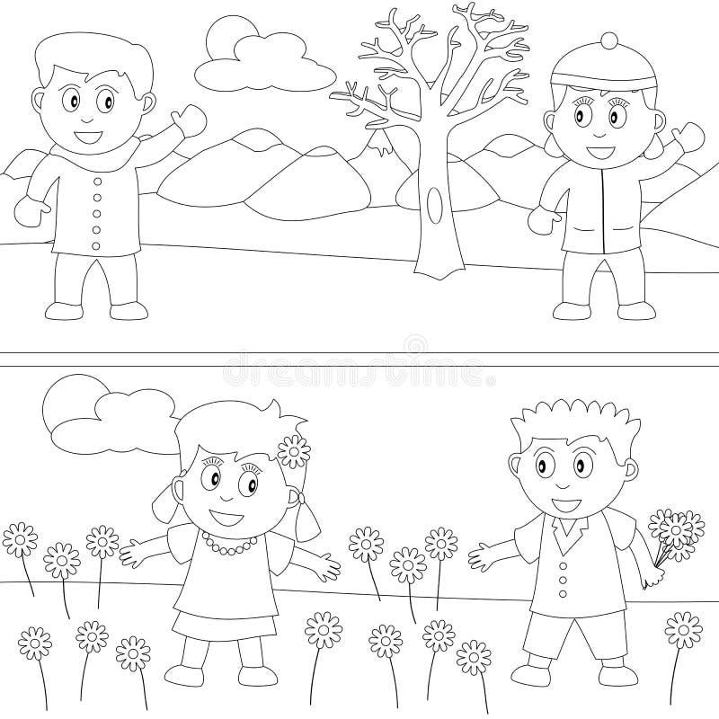 Libro di coloritura per i bambini [30] illustrazione vettoriale
