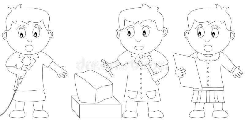 Libro di coloritura per i bambini illustrazione vettoriale