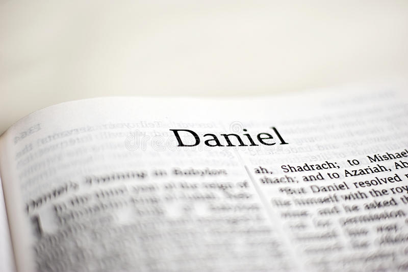 Libro di Daniele immagine stock
