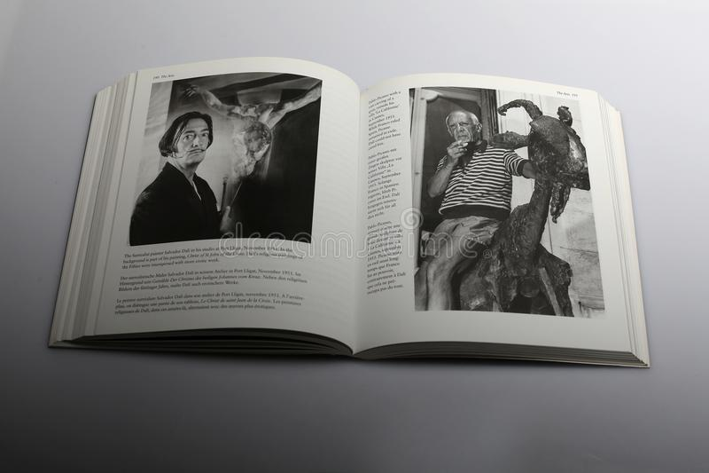 Libro di fotografia di Nick Yapp, Pablo Picasso immagine stock