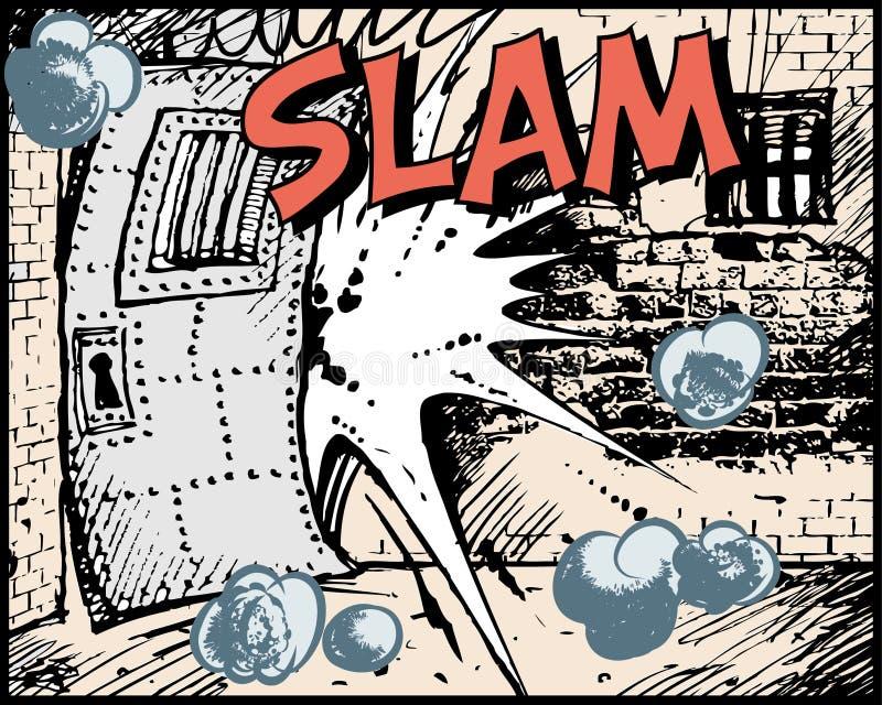 Libro di fumetti - colpo illustrazione vettoriale