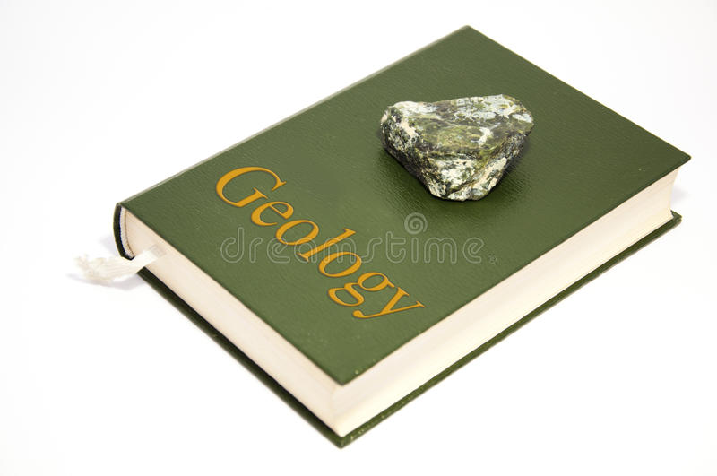 Libro di geologia immagine stock libera da diritti
