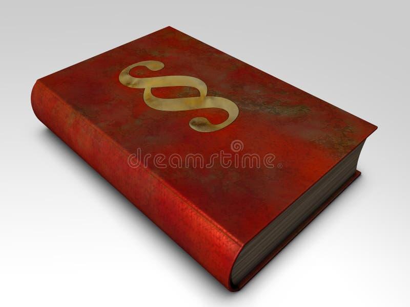 Libro di giustizia immagine stock