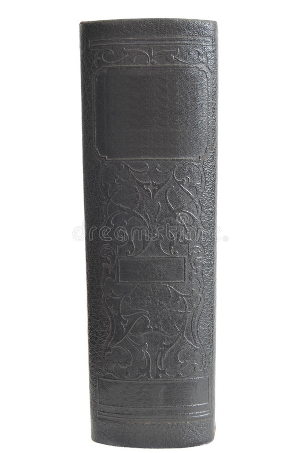 Libro di Hardcover antico isolato su bianco fotografia stock libera da diritti