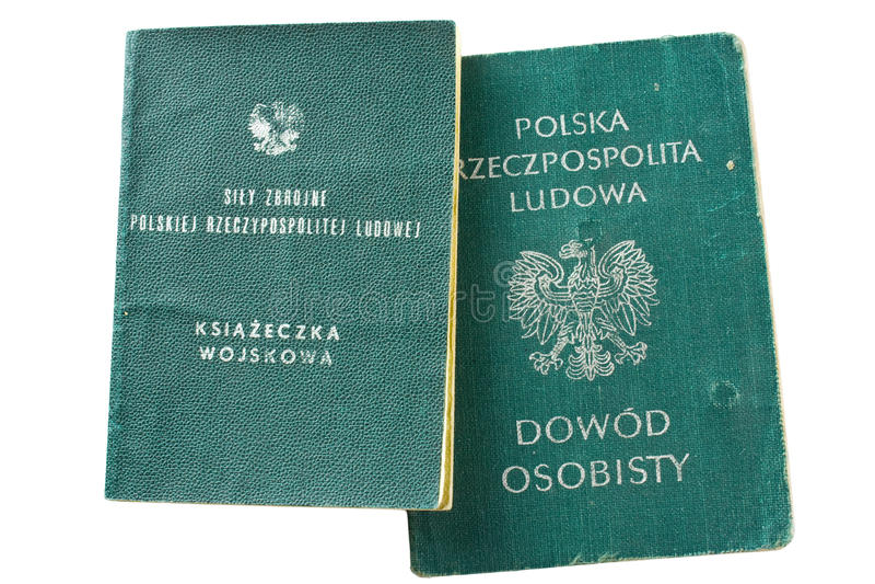 Libro di identificazione del ` s del soldato dell'esercito fotografia stock libera da diritti