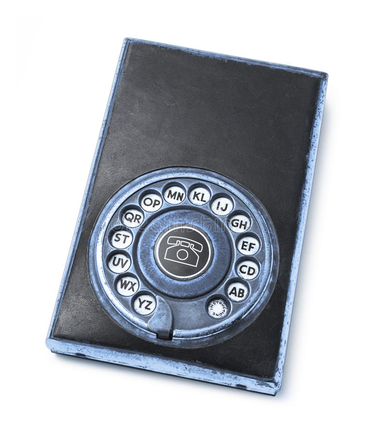 Libro di indirizzo Analog del telefono fotografia stock libera da diritti