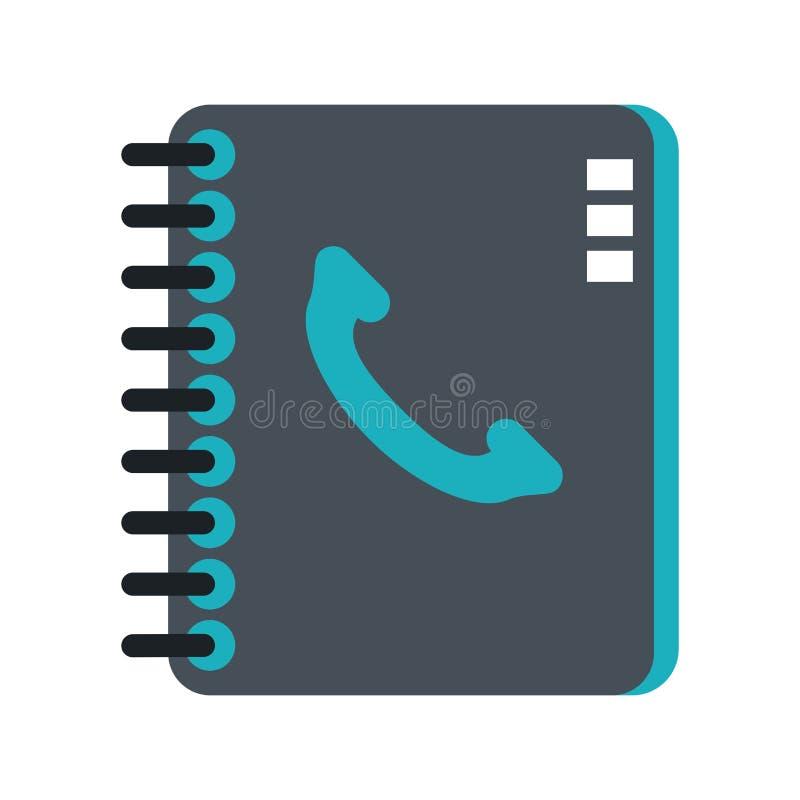 Libro di indirizzo con il telefono illustrazione di stock