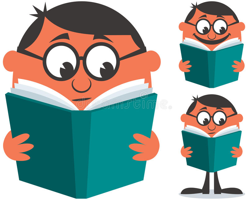 Libro di lettura illustrazione vettoriale