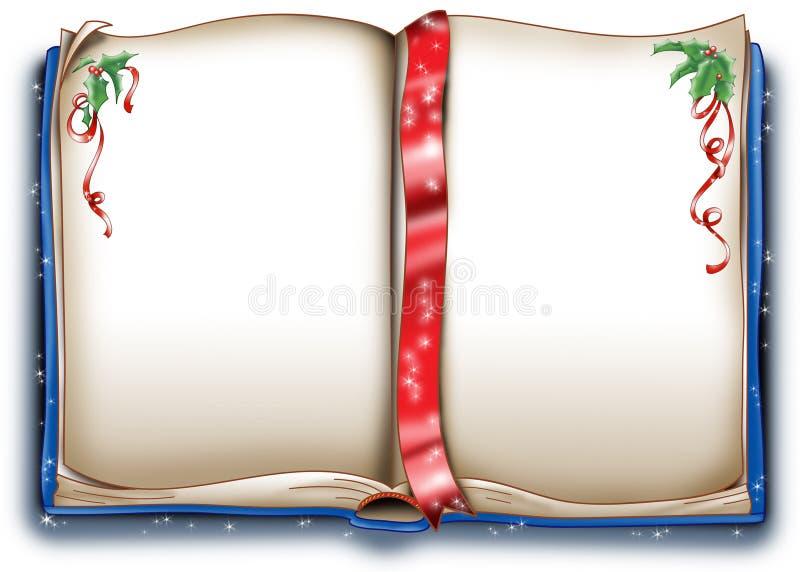 Libro di natale magico illustrazione vettoriale
