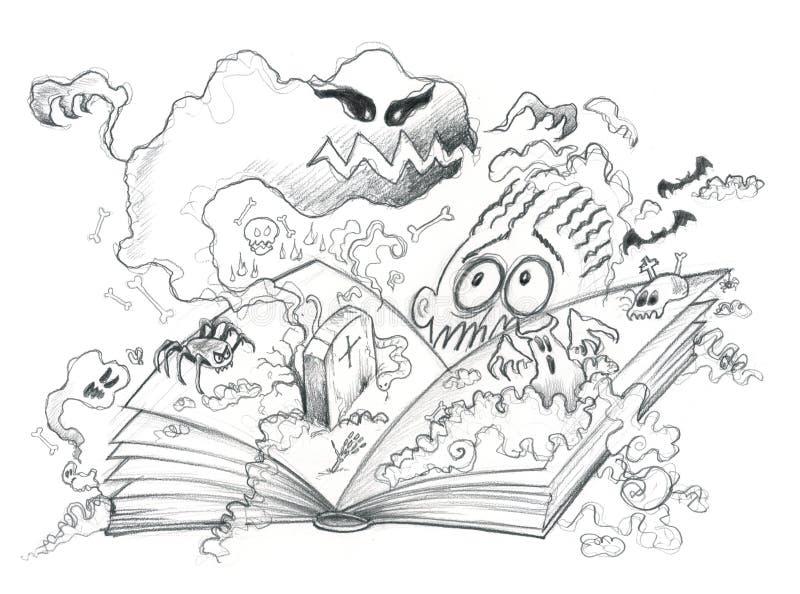 Libro di orrore illustrazione vettoriale