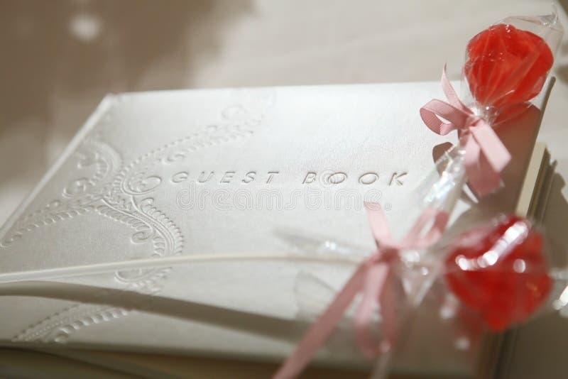 Libro di ospite fotografie stock