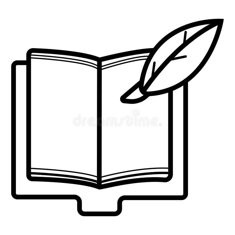 Libro di ospite con l'icona della penna royalty illustrazione gratis