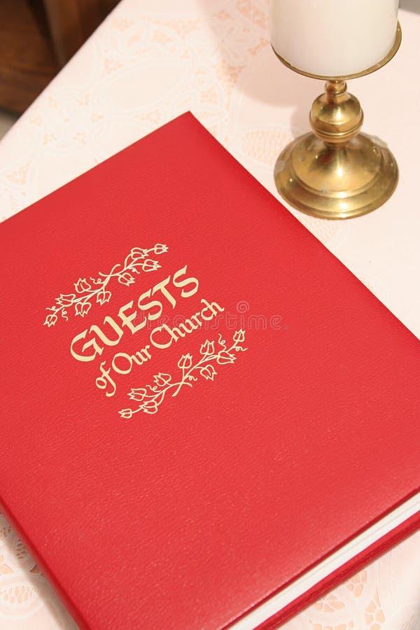 Libro di ospite della chiesa 2 fotografia stock