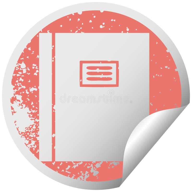 libro di pelatura circolare afflitto del giornale di simbolo dell'autoadesivo illustrazione vettoriale