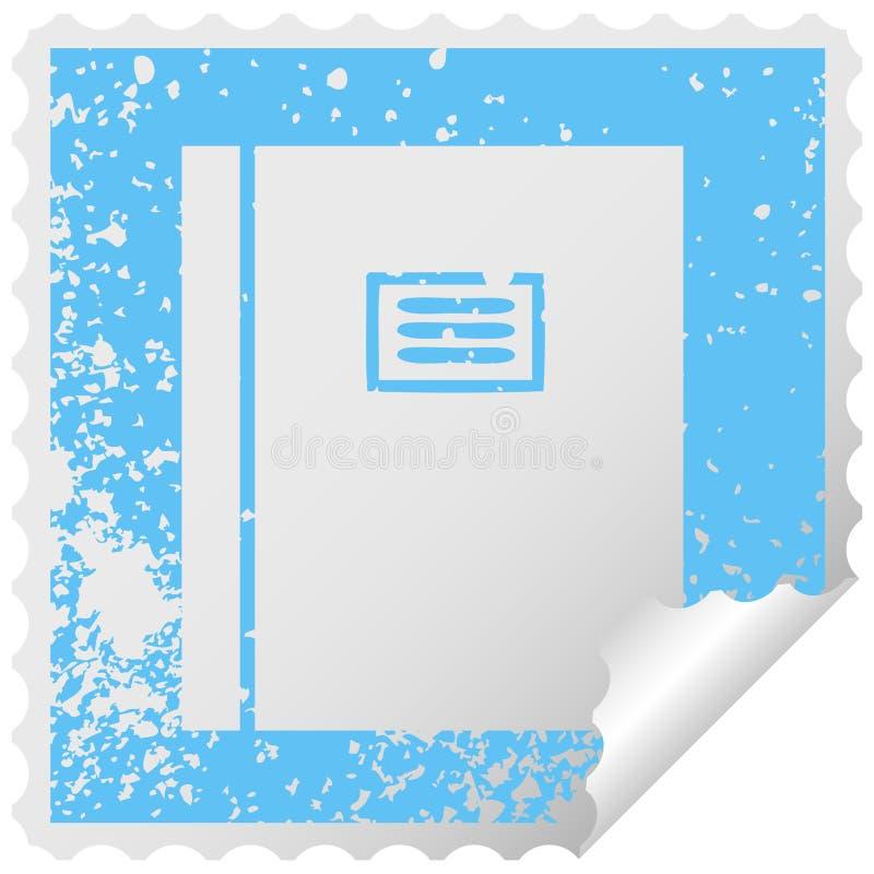 libro di pelatura quadrato afflitto del giornale di simbolo dell'autoadesivo illustrazione di stock