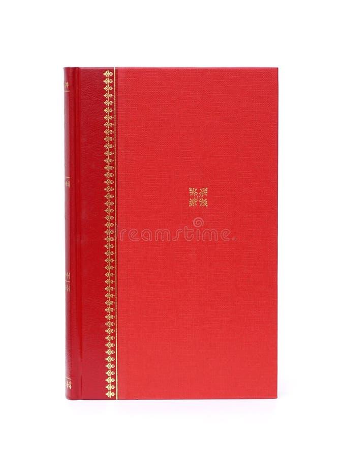 Libro di rosso della copertina rigida fotografia stock libera da diritti