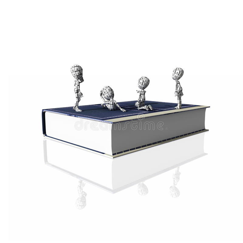 Libro difficile royalty illustrazione gratis