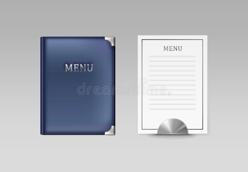 Libro e carta del menu royalty illustrazione gratis