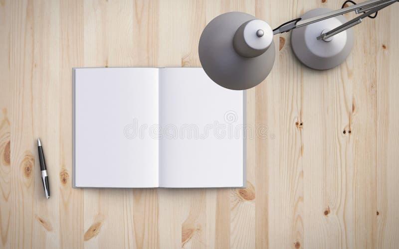 Libro e lampada royalty illustrazione gratis
