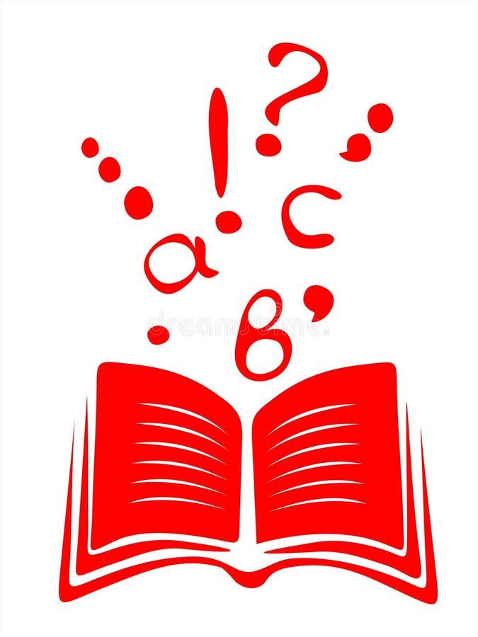 Libro e lettere illustrazione di stock