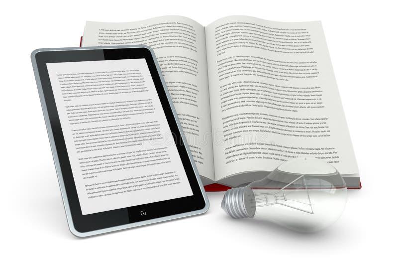 Libro e nuove tecnologie royalty-vrije illustratie
