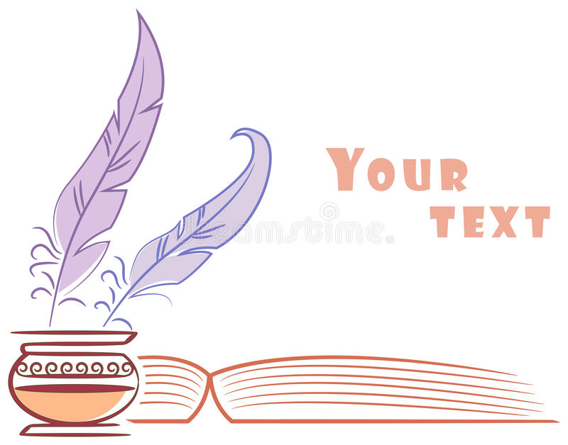 Libro e spolette royalty illustrazione gratis