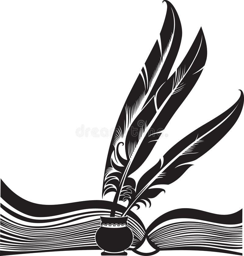 Libro e spolette illustrazione vettoriale