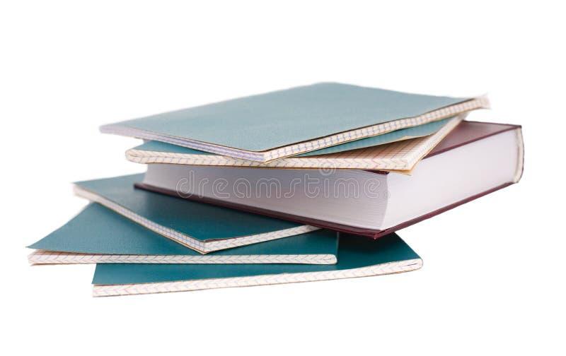 Libro e taccuino fotografie stock libere da diritti