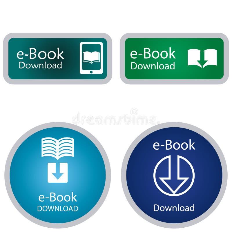 Libro elettronico illustrazione di stock