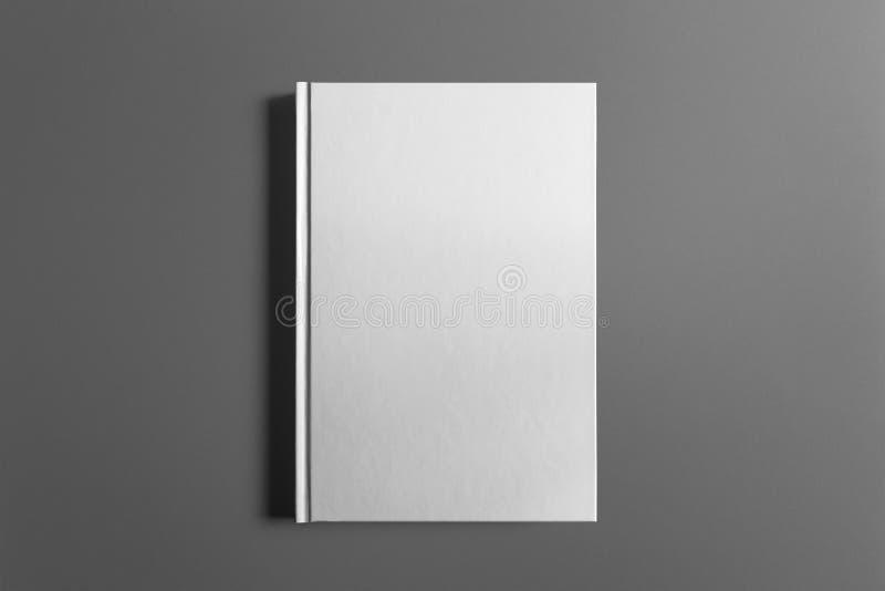 Libro en blanco aislado en gris fotografía de archivo libre de regalías