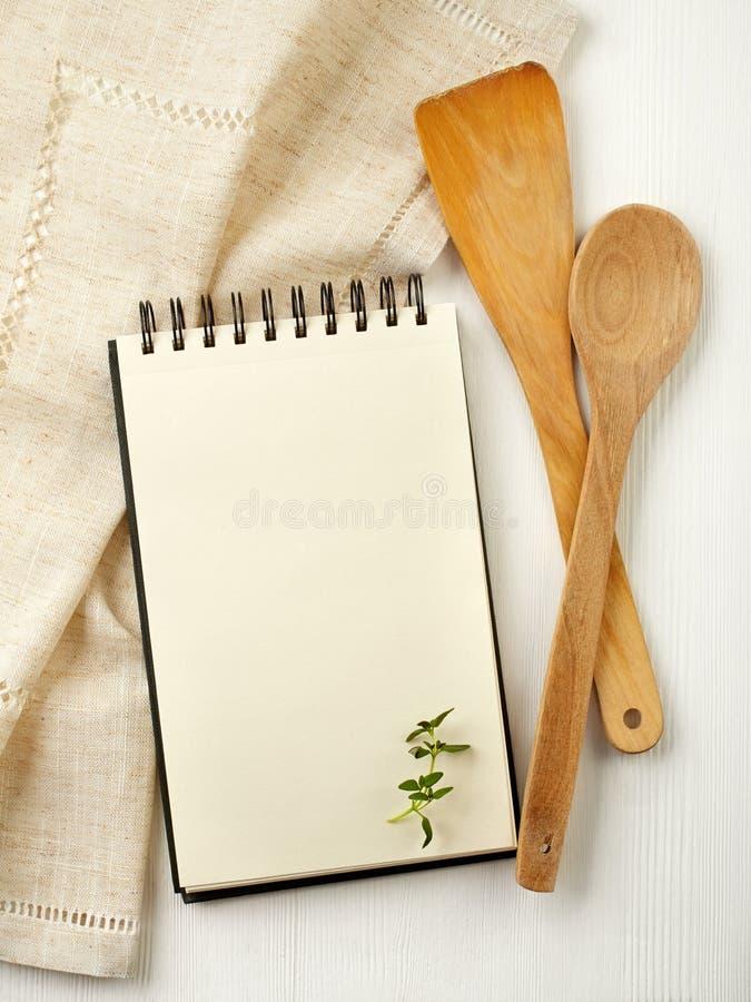 Libro en blanco de la receta foto de archivo libre de regalías