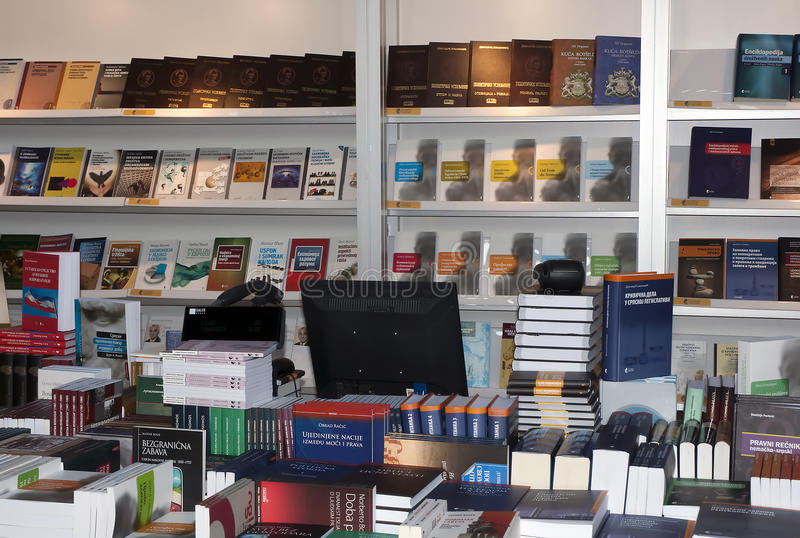 Libro Fair-2 di Belgrado fotografia stock