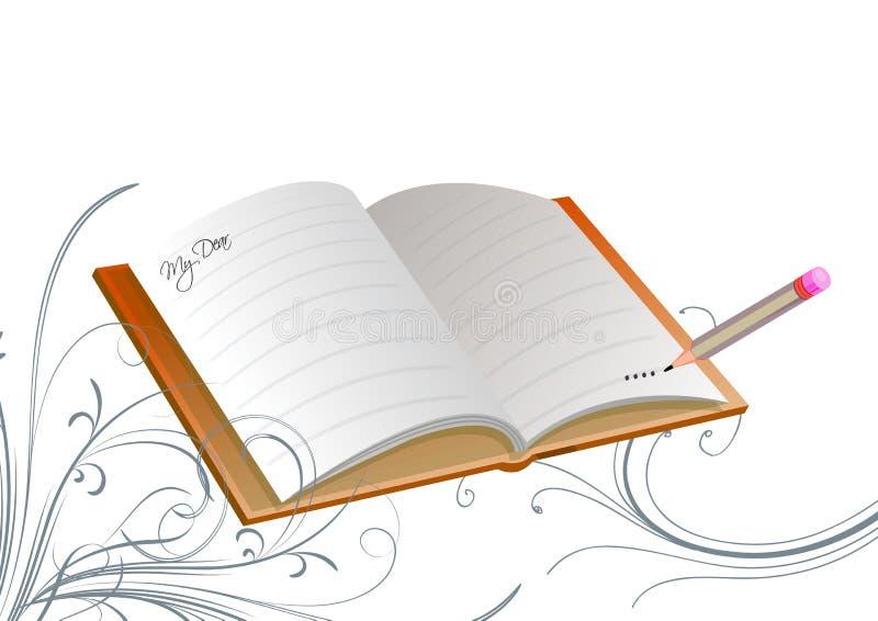 Libro floral ilustración del vector