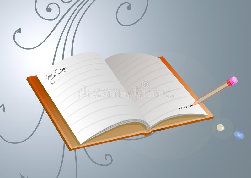 Libro floral libre illustration