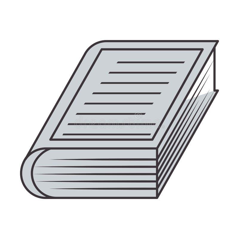 Libro gris de la silueta con la cubierta rayada libre illustration