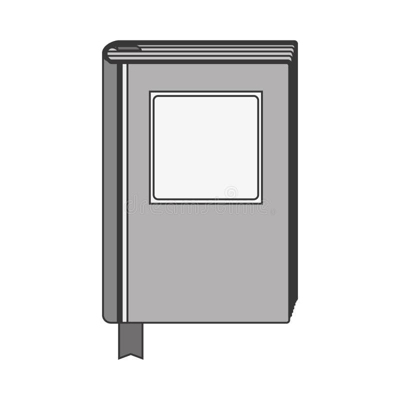 Libro gris de la silueta con la cubierta rayada ilustración del vector