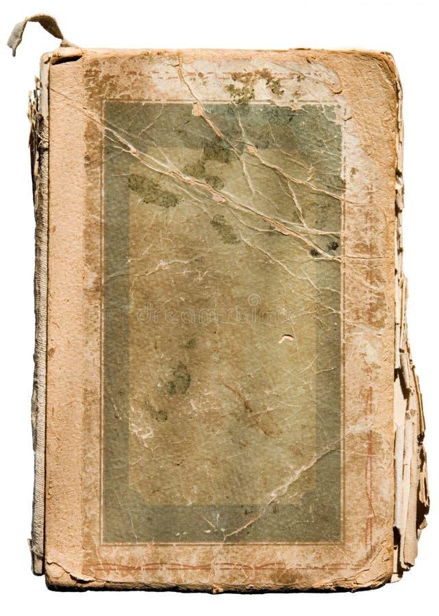 Libro hecho andrajos viejo en blanco fotos de archivo libres de regalías