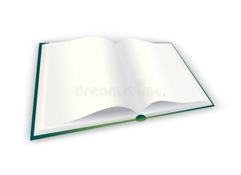 Libro isolato su priorità bassa bianca illustrazione di stock