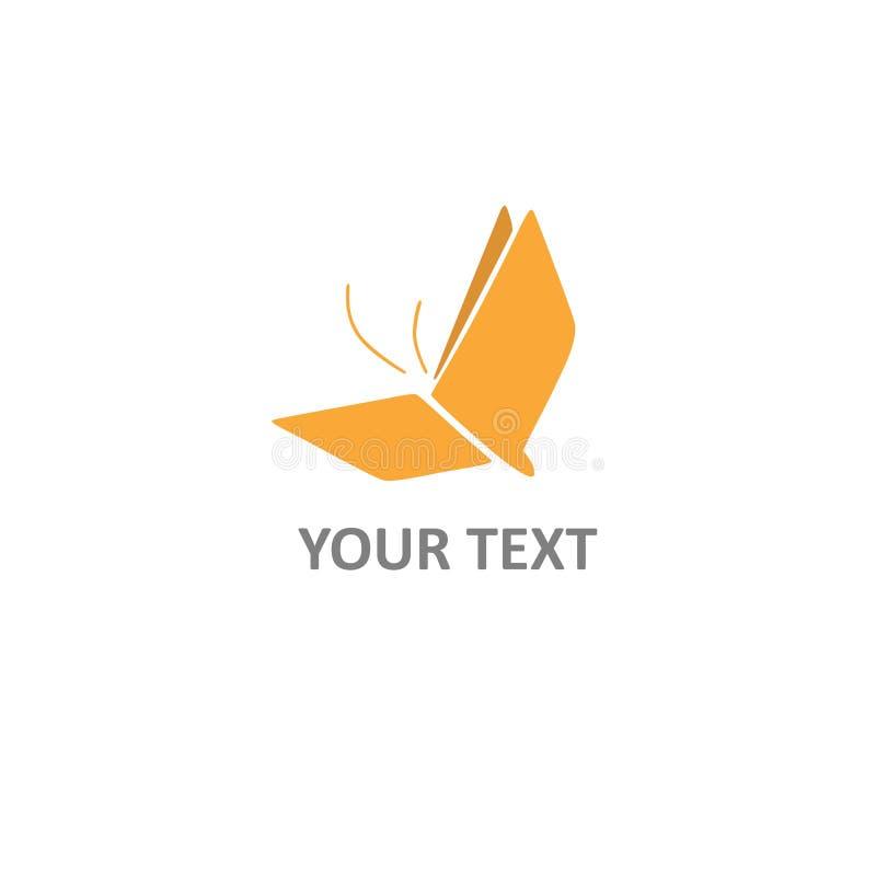 Libro Logo Creative Design Concetto della farfalla Modello di vettore royalty illustrazione gratis