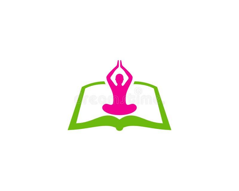 Libro Logo Icon Design de la yoga ilustración del vector
