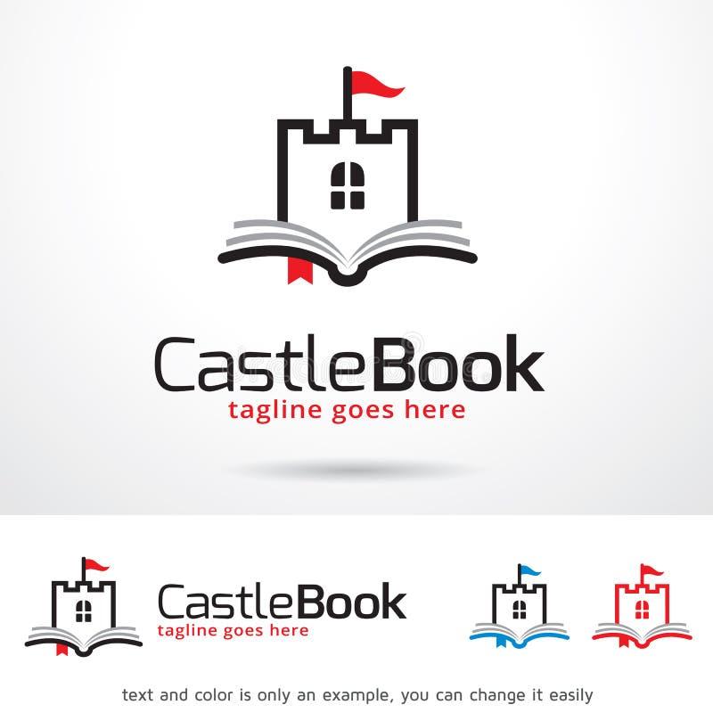 Libro Logo Template Design Vector del castello royalty illustrazione gratis
