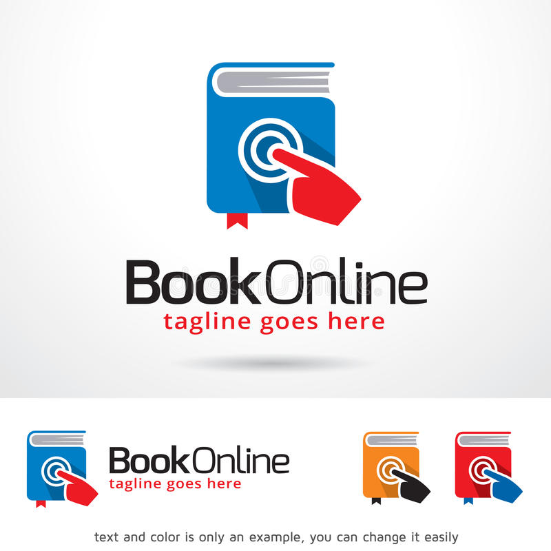 Libro Logo Template Design Vector en línea ilustración del vector