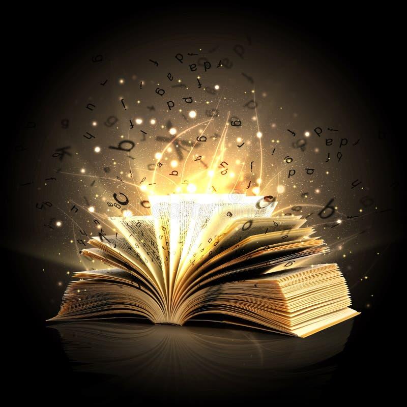 Libro mágico ilustración del vector
