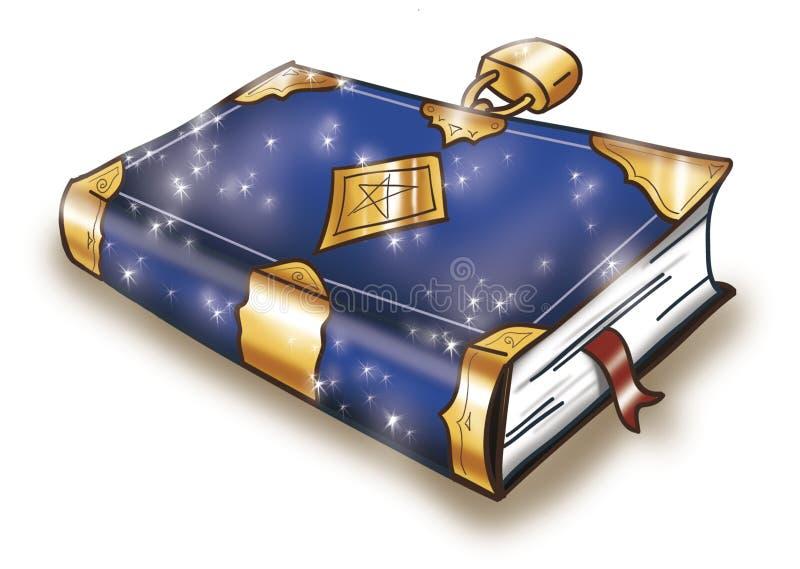 Libro mágico cerrado stock de ilustración