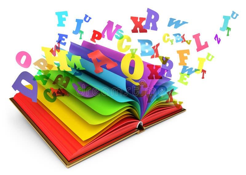 Libro mágico. Cuento de hadas ilustración del vector